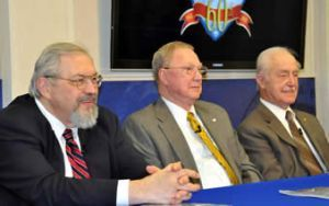 Panel discussion participants at the 60th Anniversary of NSA Exhibit Opening at the National Cryptologic Museum
