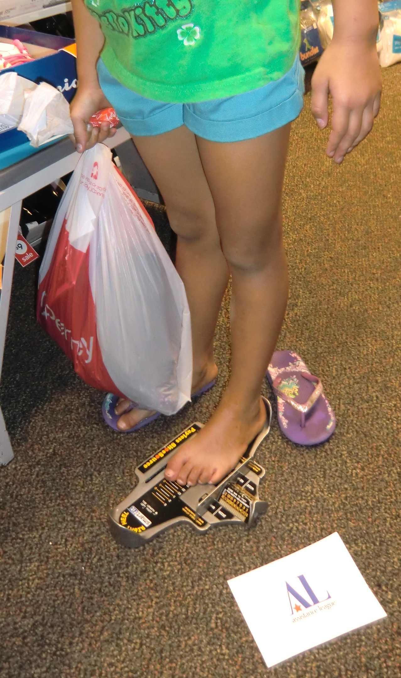 Shopping for shoes.