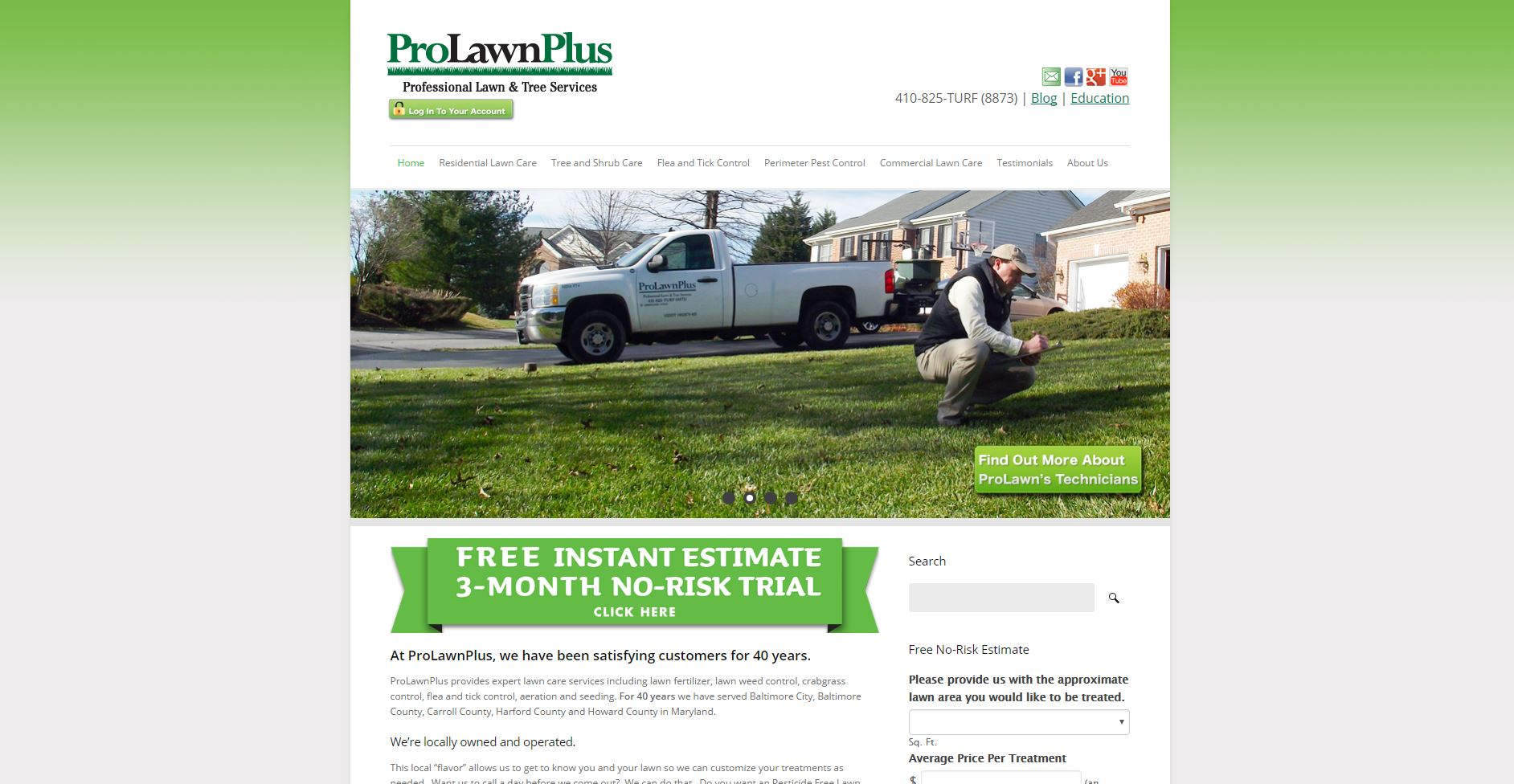 ProLawnPlus: Web Development