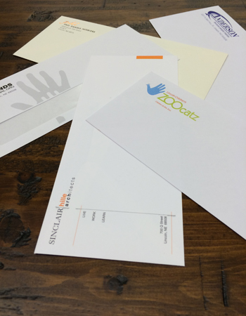Business envelopes created through the business printing services of Colorprint in Burlingame, CA