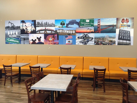 Wall Graphics for Restaurants in Orange County