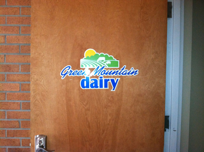 Contour Cut Decal Installed on Door