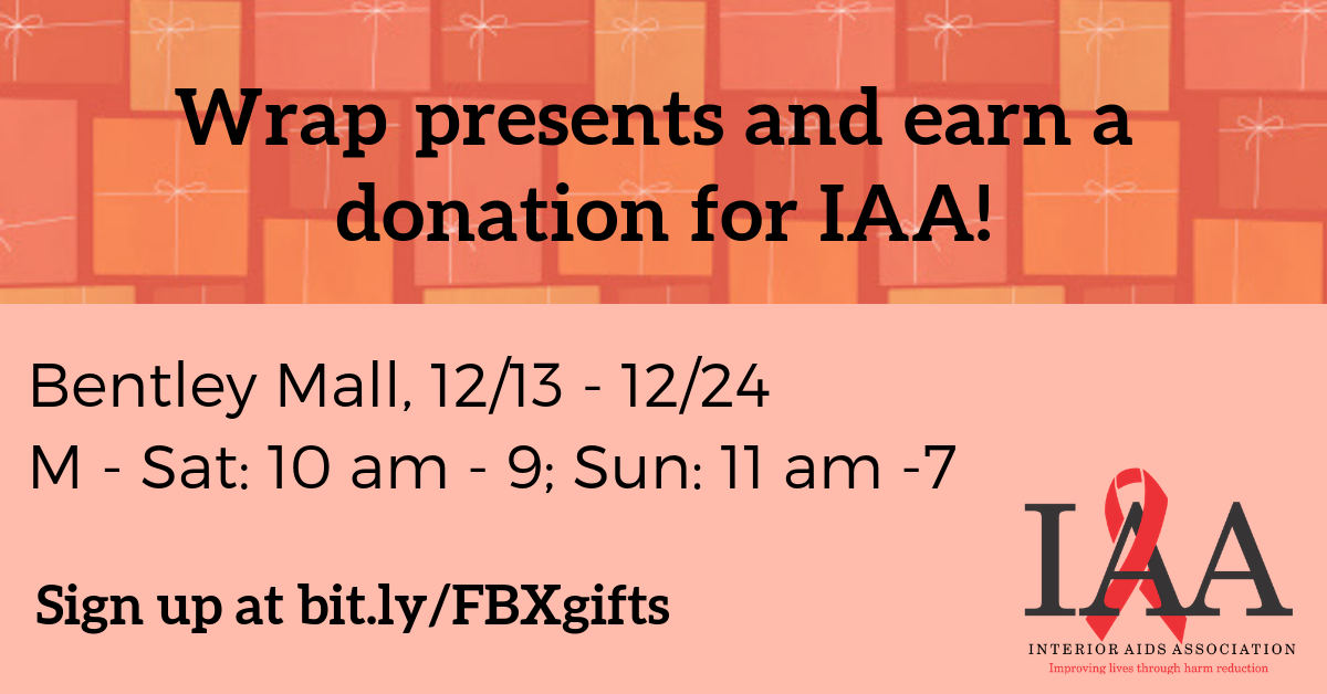 Wrap presents and earn a donation for IAA!