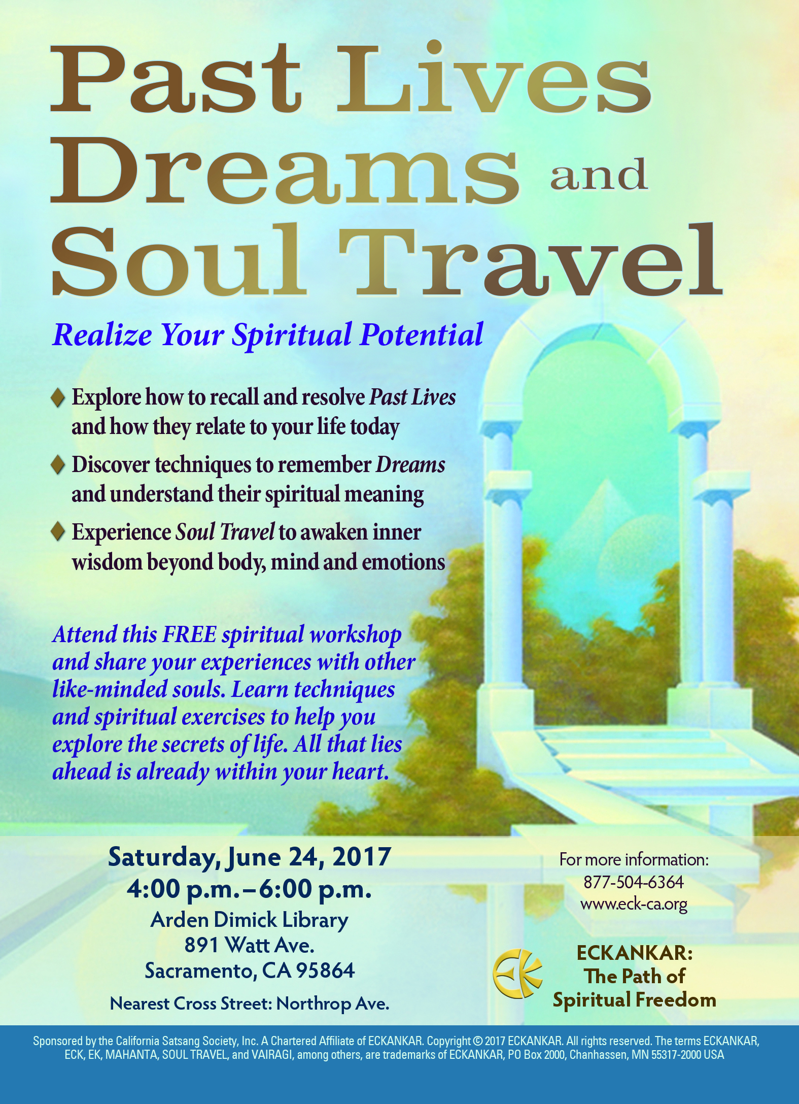 FREE spiritual workshop: Past Lives, Dreams, and Soul Travel