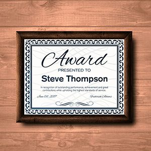 Request an estimate for printing and mailing awards / certificates.