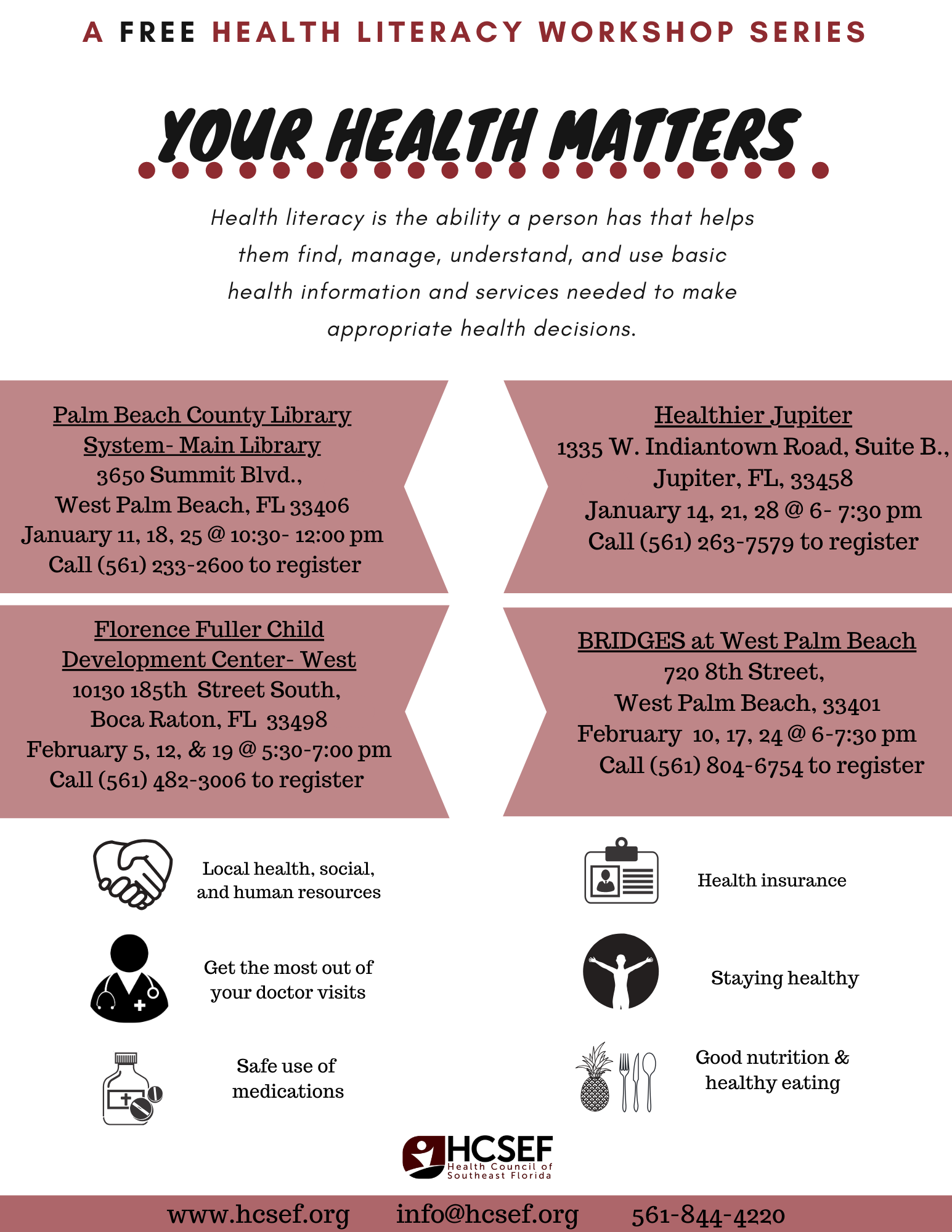 Your Health Matters - Health Literacy Workshops