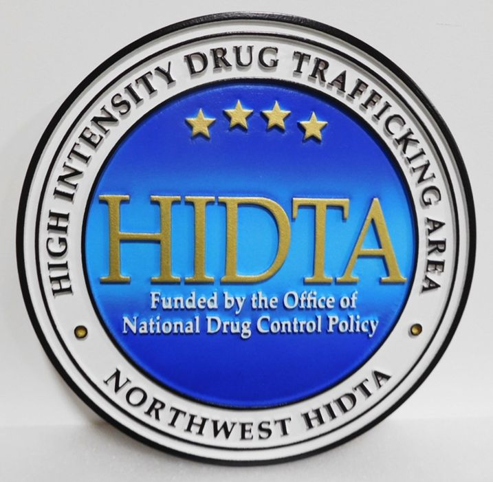 AP-2547 - Carved Plaque of the Seal of the Northwest  High-Intensity Drug Trafficking Area  (HITDA) , DEA