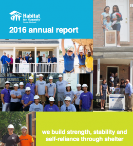 2016 Habitat for Humanity Annual Report