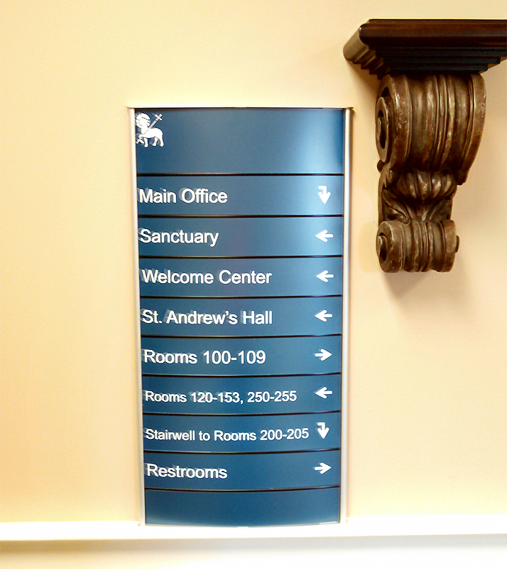 Way finding Directional Signs
