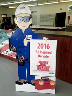 Allnex Safety Sign Cutout