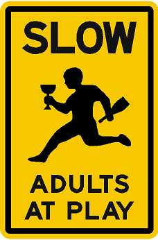 Adults At Play Signs