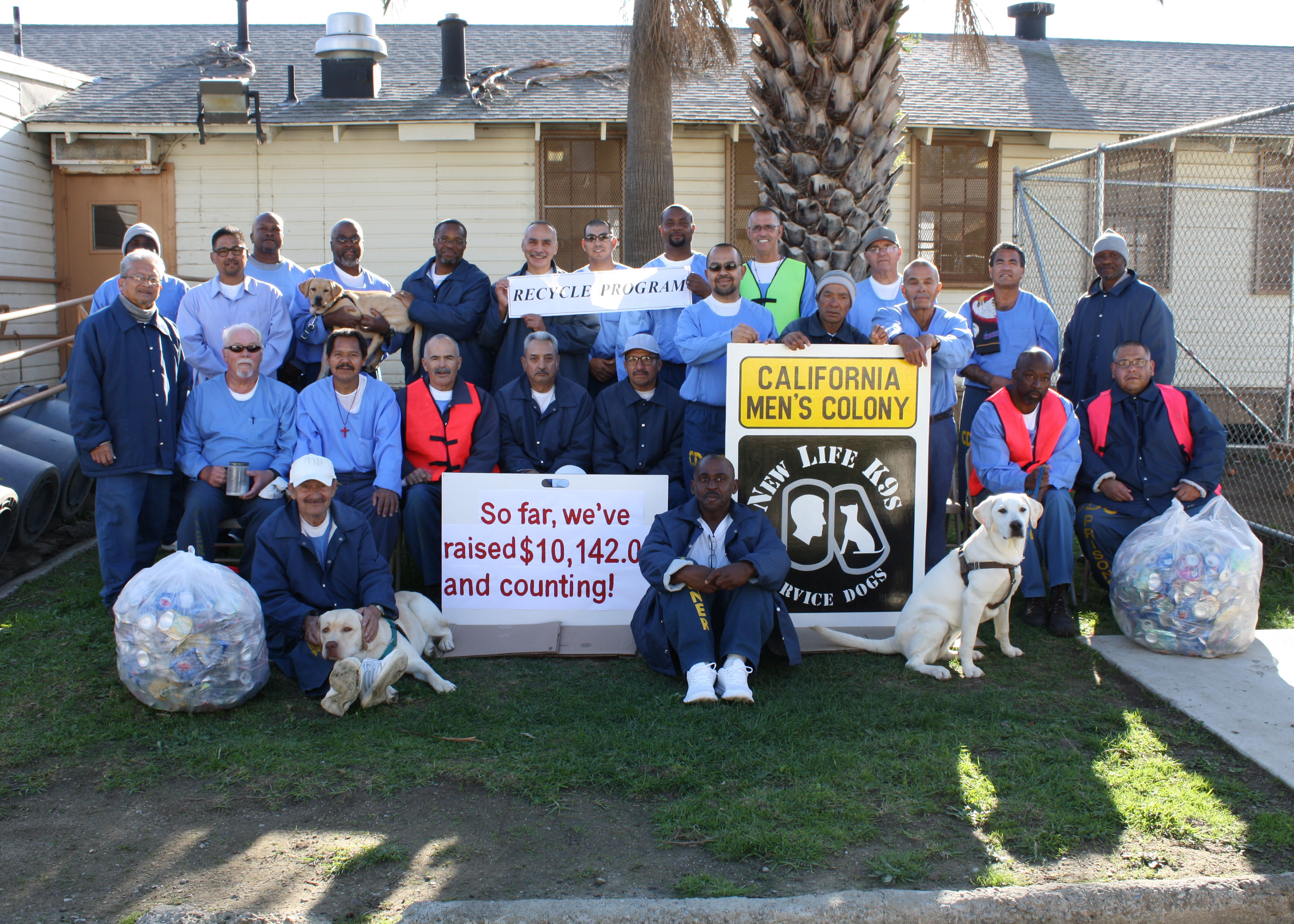 Thank you to the California Men's Colony Recycling Crew for your Donations!