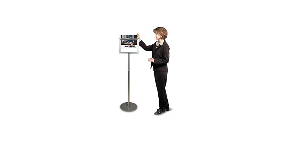 Metal Top Loading Sign Stand