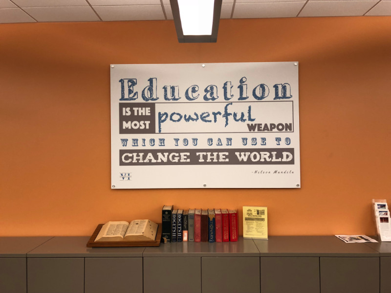 Custom wall graphics for colleges in Whittier CA