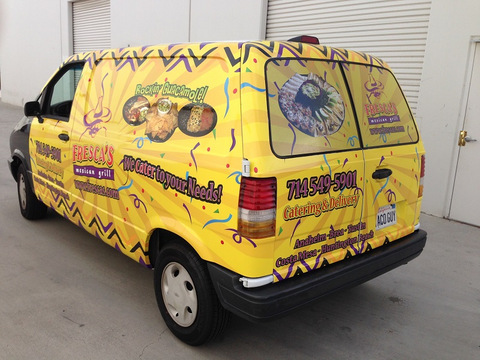 Catering Van Wraps Orange County