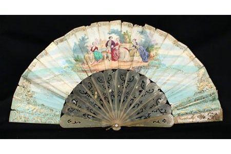 Two-way fan, ca. 1840s-1850s