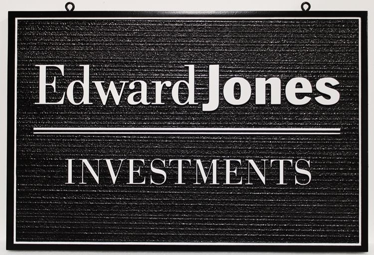 """C12103 - Carved and Sandblasted Wood Grain  2.5-D HDU  Sign for """"Edward Jones Investments"""""""