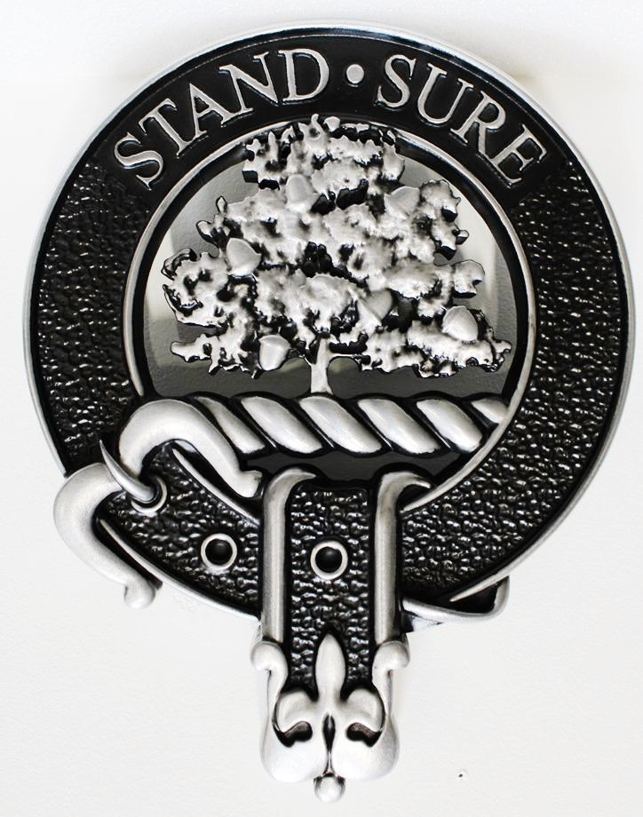 """MD4100 - 3-D Plaque of the Emblem feeaturing a  a Tree with the Motto """"Stand Sure"""""""