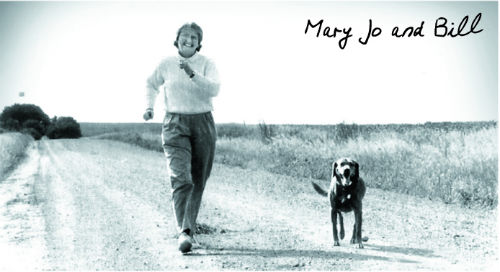 Mary Jo Wegner and her dog, Bill