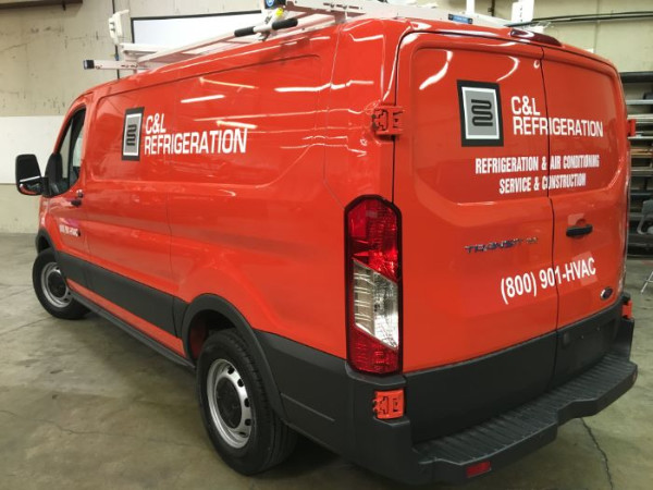 Fleet graphics for work vans in Orange County CA