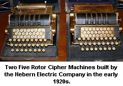 Five Rotor Hebern Cipher Machines