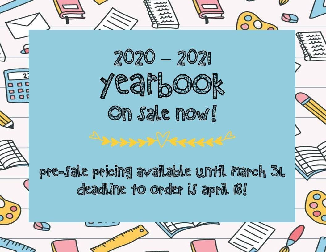2020 - 2021 YEARBOOKS ON SALE NOW!