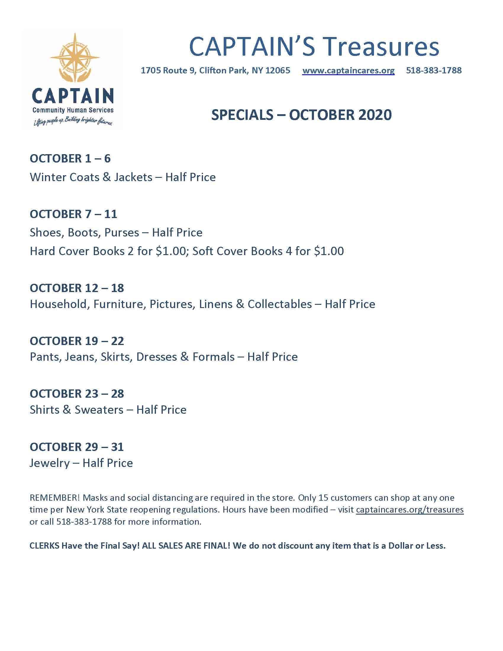 October 2020 Sales