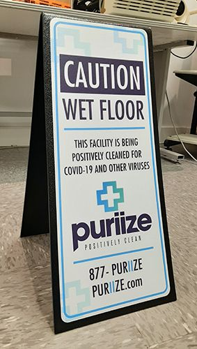 COVID-19 Cleaning Floor Sign