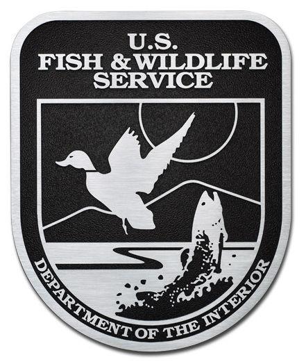 M7545 -  Precision Machined Aluminum  US Fish & Wildlife Service Seal  Plaque