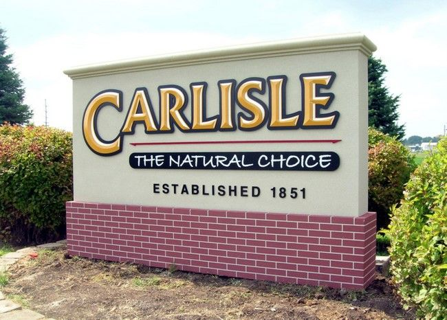 """S28430 - Monument Sign for the """"Carlisle"""" with Faux Brick Base"""