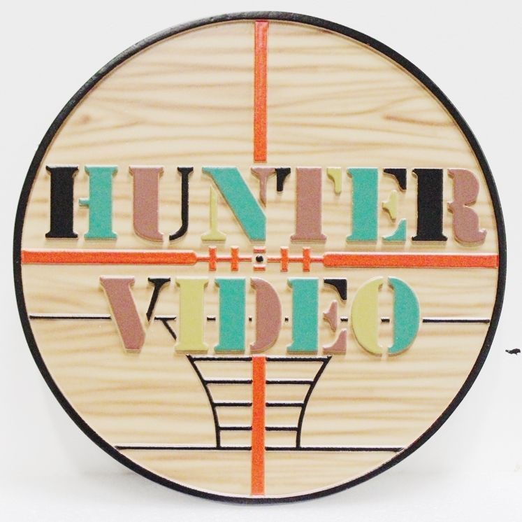 SA28763 -  Carved 2.5-DHDU  Sign for Hunter Video