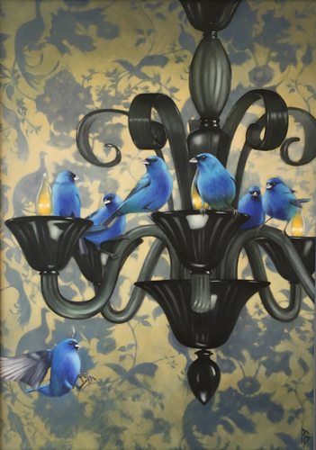 "First Place - ""Indigo Buntings Consider the Meaning of Wallpaper"""