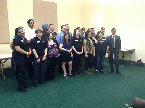Project Everlast youth hosting a legislative luncheon at the capital.