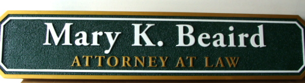 A10222 - Sandblasted HDU Attorney-at-Law Door or Wall Sign