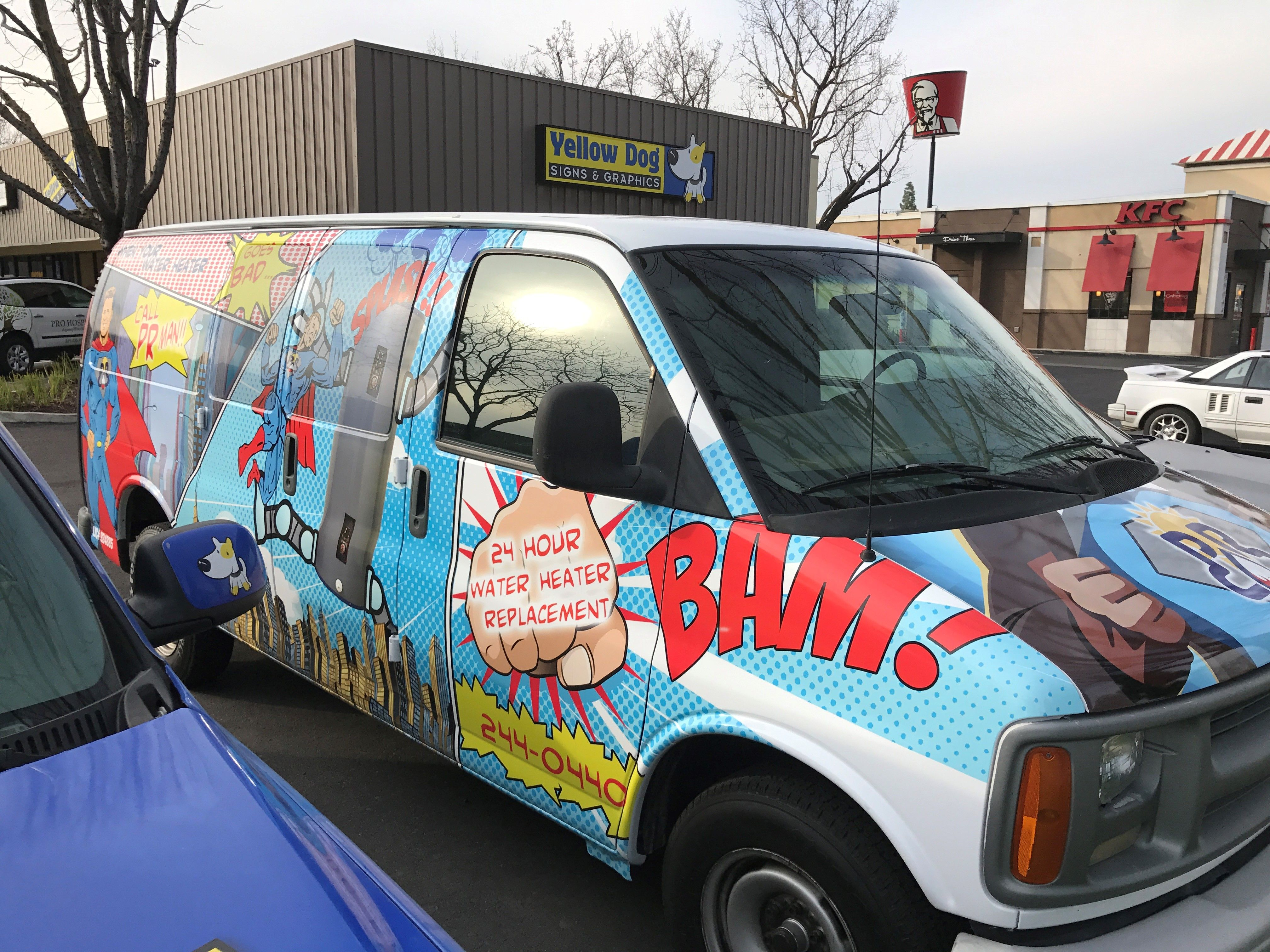 PR Plumbing Comic Book Van