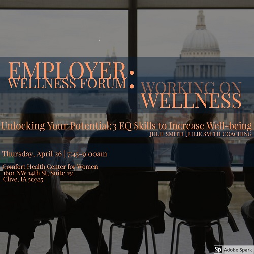 Working on Wellness Employer Wellness Forum - April 26