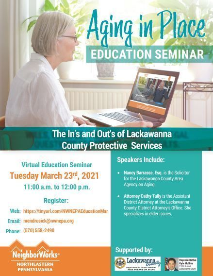 """Aging in Place Seminar Series Presents """"The ins and outs of Lackawanna County Protective Services"""""""