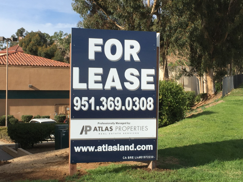Commercial for Lease Signs