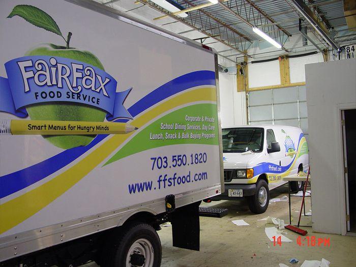 Fairfax Food Services Truck Graphics
