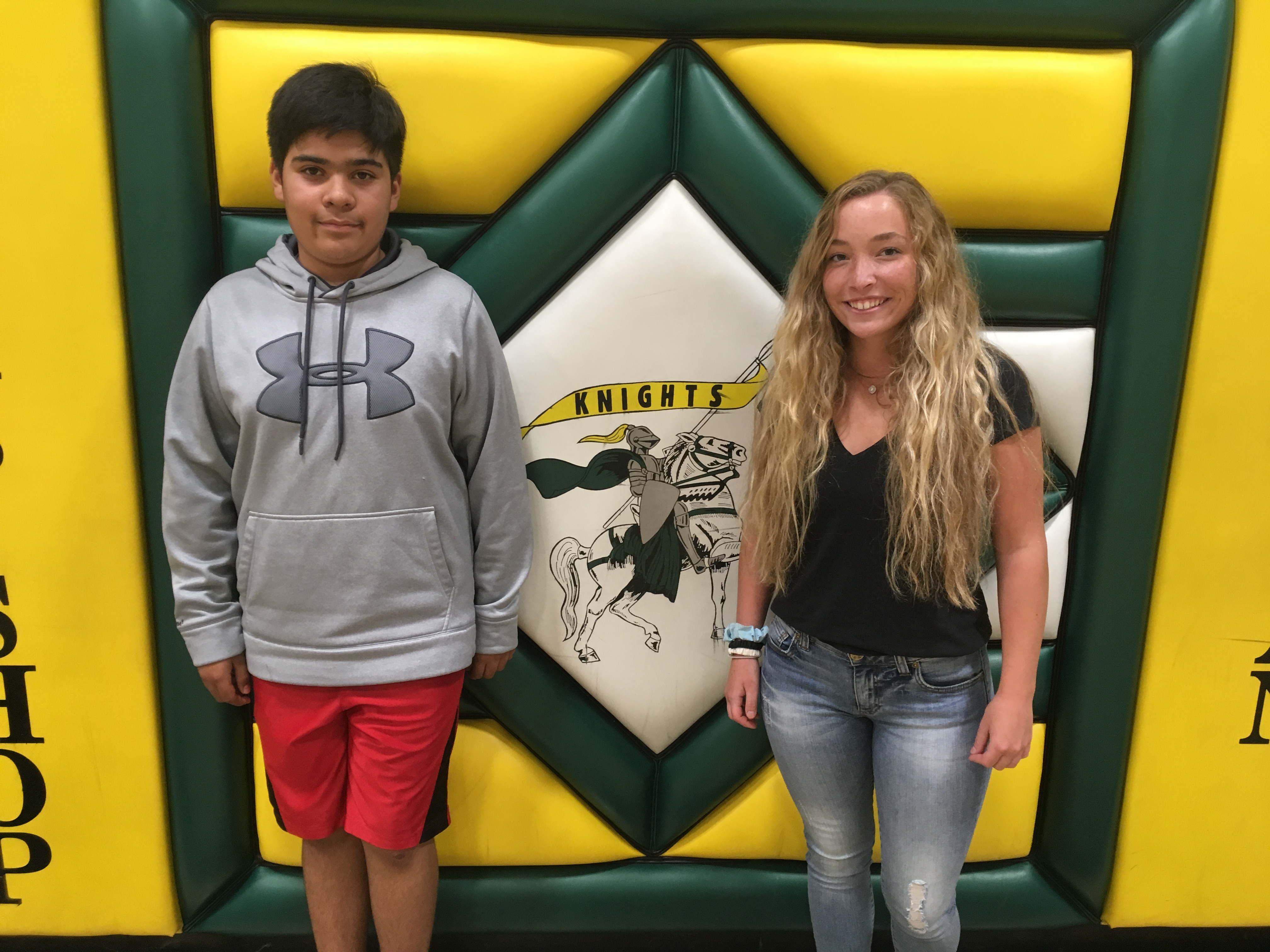 Knight's Code August Students of the Month