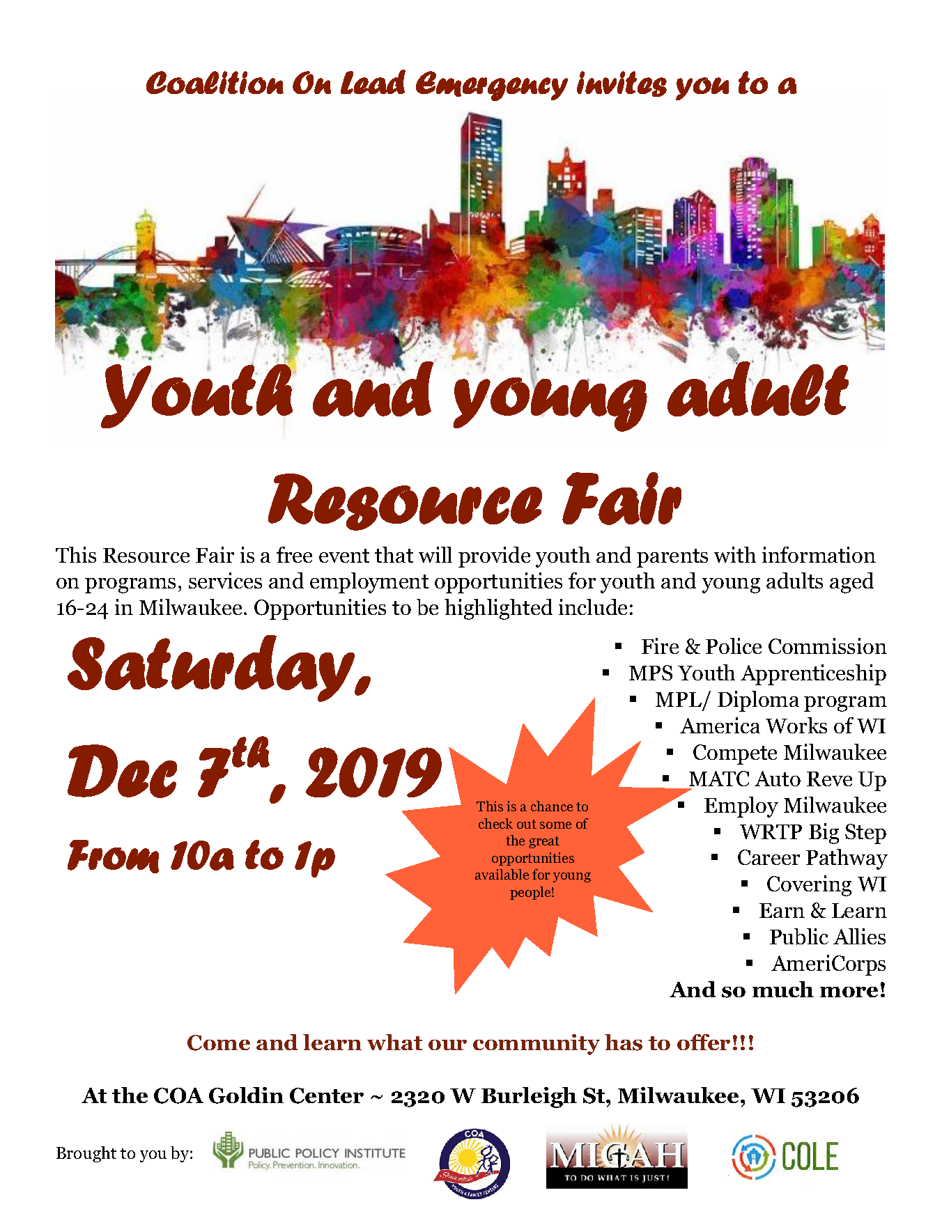Youth & Young Adult Resource Fair