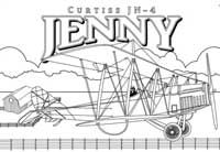 Curtiss Jenny Coloring Page