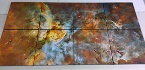 Matching canvas prints of NASA images