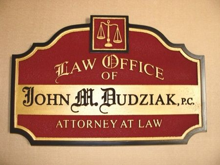 A10111 - Sandblasted HDU Attorney sign