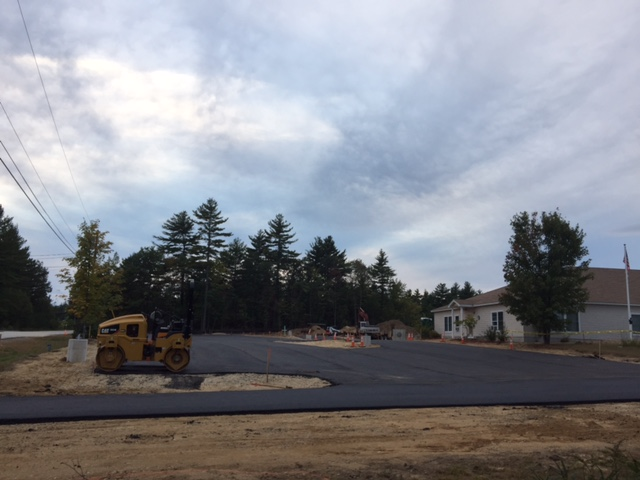 Monday evening, paving is almost done!