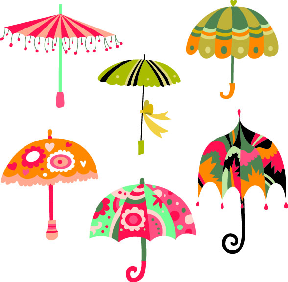 Umbrellas Wallpaper