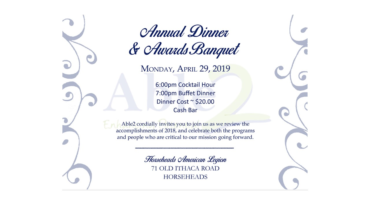 Annual Dinner & Awards Banquet