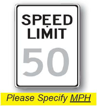 Speed Limit Sign-24 inch x 30 inch