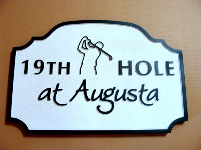 E14670 - Nineteenth Hole Sign at Augusta National Golf Club