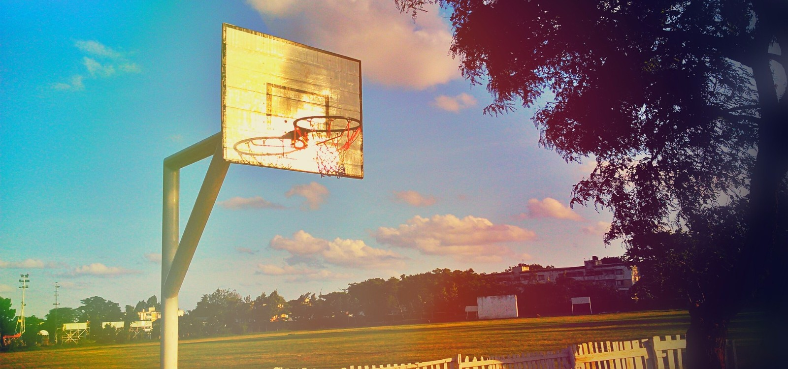 Basketball Hoop with Sun